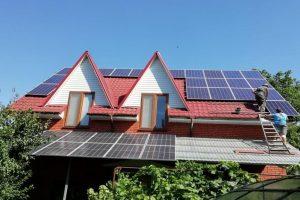 Установка солнечной станции 14 кВт на крыше, Эко Про плюс