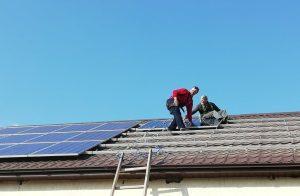 Монтаж фотомодулей на крышной СЭС 12 кВт, Эко Про плюс